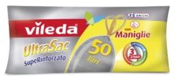 Vileda 124309 UltraSac SupeRinforzato Müllbeutel mit Tragegriff, 50l -