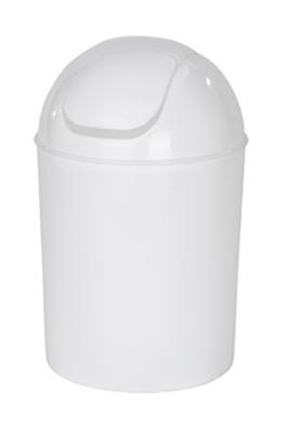 Wenko 21884100 Schwingdeckeleimer Economic, Fassungsvermögen 6 L, Polypropylen, 20 x 20 x 30 cm, weiß -