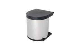 Wesco 10114-42 Einbaueimer -Abfallsammler-Inhalt :  11 Liter, Rund, -Farbe: Aluoptik -