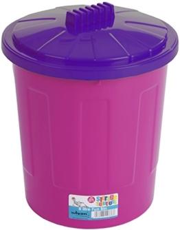 """Wham 15300 Universal-Tonne """"Fun Bin"""", PP, 33,5 x 33,5 x 40 cm, rosa / purpur -"""