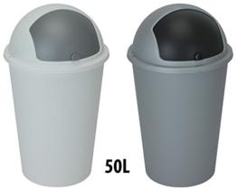 XXL Abfalleimer PUSH 50 Liter in 2 Farben -