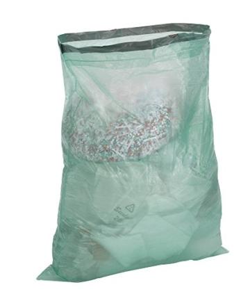Zugband Müllbeutel - 60 Liter (90 Stück) - Reißfest & Flüssigkeitsdicht - 3er Pack (3 x 30 Stück) - Einfach einzeln entnehmbar ohne abreißen -