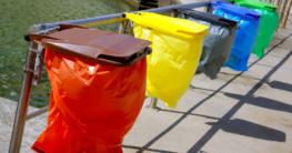 Halter für gelbe Säcke